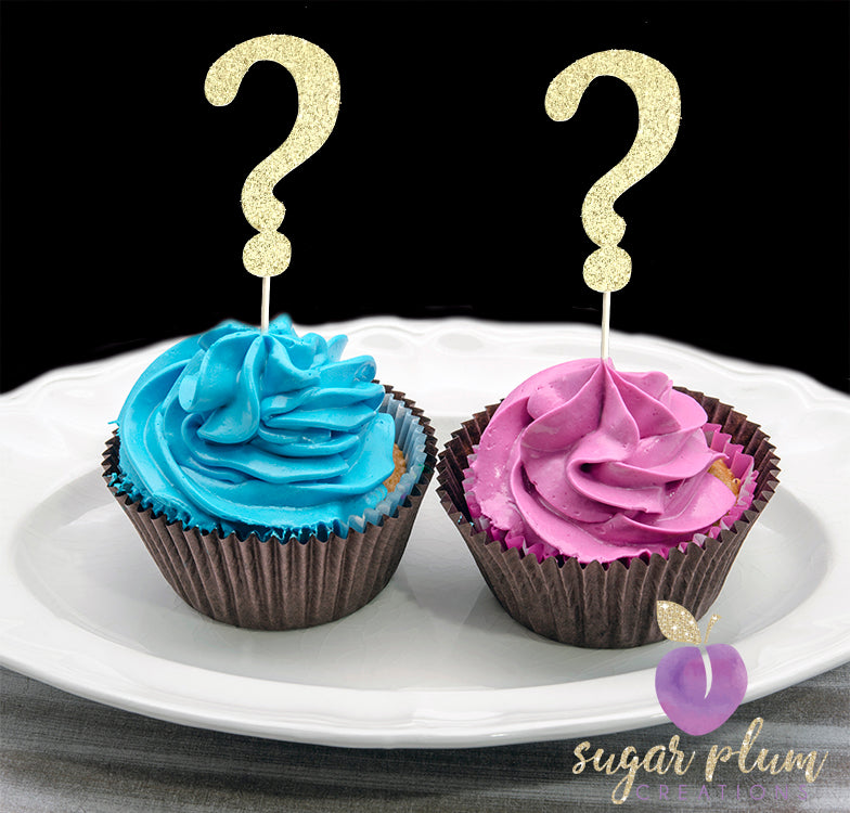 Question Mark Cupcake Topper