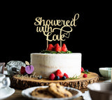 Showered With Love Cake Topper