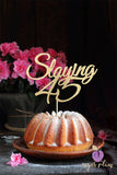 Slaying 45 Cake Topper