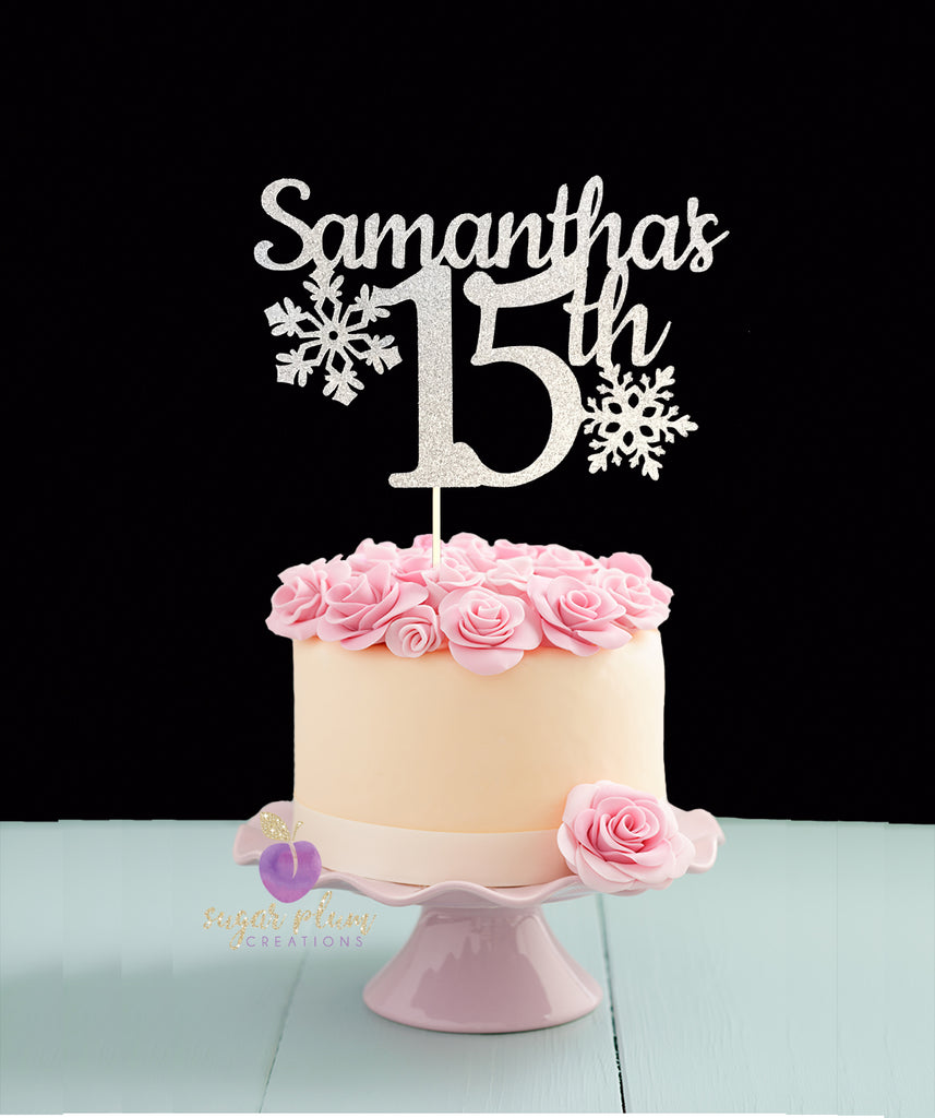 Snowflake Birthday Cake Topper