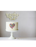 Sprinkled With Love (curly) Cake Topper