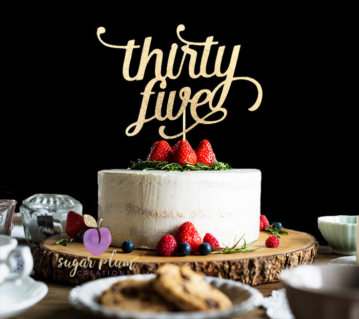 Thirty Five Cake Topper