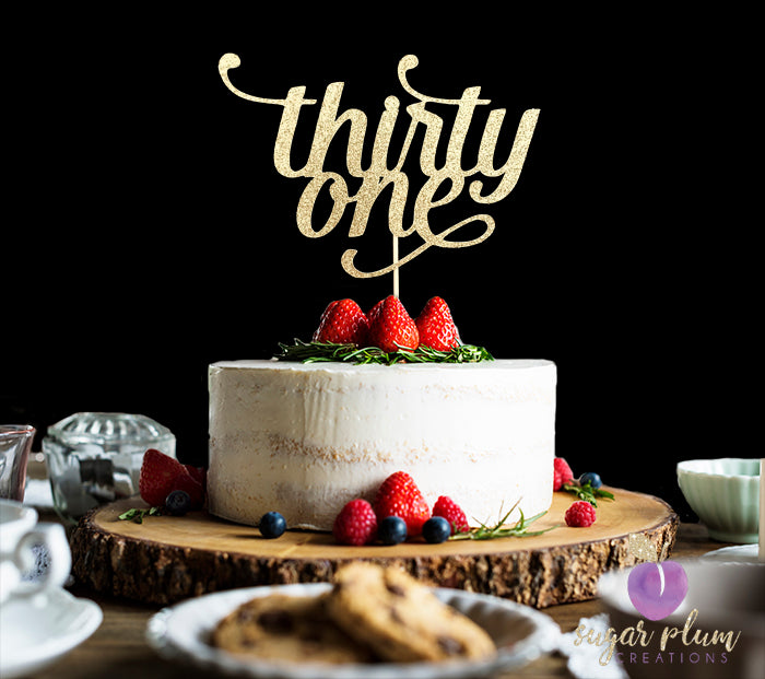 Thirty One Cake Topper