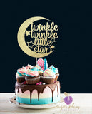 Twinkle Twinkle (with moon) Cake Topper