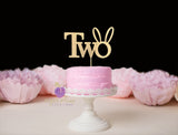 Two (bunny ears) Cake Topper