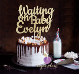 Waiting on Baby Cake Topper
