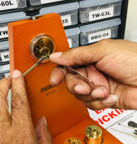Introducing our IMPROVED Locksmith School-in-a-Box Lock Picking Training Kit!
