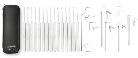 Twenty-Two Piece Slim Line Lock Pick Set - C2010