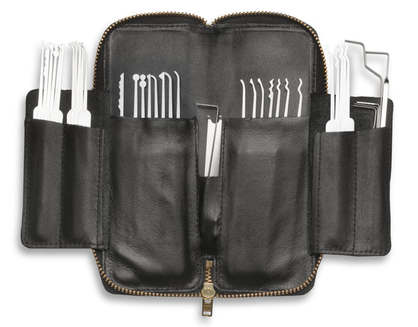 Leather-Lined Zippered Lock Pick Case - C-3010C