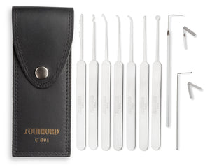 Nine Piece Slim Line Lock Pick Set - C801