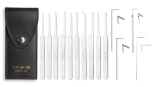 Fourteen Piece Lock Pick Set With Metal Handles - MPXS-14