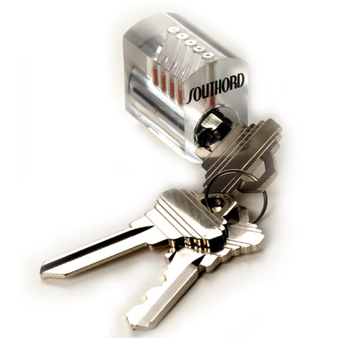 Outlet Visible Cutaway Practice Lock w/ Standard Pins - ST-34-O