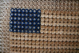 Unusual Old Glory Tatting Flag Hand Executed Framed Beautiful