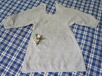 Child's Antique Blue Homespun Apron with Farmhouse Flavor