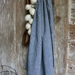 Early Homespun Apron Blue and White Farmhouse Flavor Superb Condition