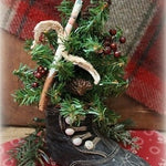 Victorian Button Up Baby Shoe Decorated Tree