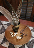 Early Horn Beaker Wooden Plate Feathers Gathering