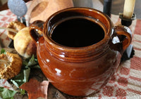 Bean Pot Redware Color Vintage with Autumn Flavor