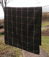 Blanket Brown Plaid Primitive Winter Coziness