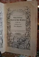Rare German Fables Illustrated Book Christmas Gathering