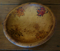 Bowl Vintage with Autumn Leaves