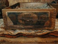 Fall Antique Box Gourd Pumpkin Butter Paddle Acorns Grater LIghts Up Fabulous