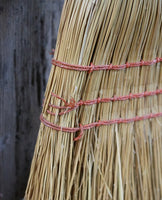 Bewitching Old Pair of Child's Brooms in Paint