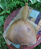 Wooden Bowl Nice Deep Rim and Butter Paddle