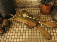 Antique Butter Pats Paddle Scotch Hands Warm Patina