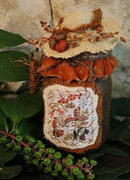 Candle Primitive Keeper of Autumn Delightful