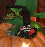 Candle Primitive Halloween with Witches Hat Enchanting