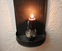 Tin Candle Sconce Raised Decoration 18th Century