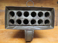 Antique 12 Tube Candle Mold from Virginia