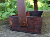 Rare Antique Primitive Carrier with Potted Posies
