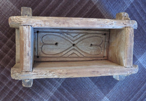 Antique Swedish Cheese Mold With Heart Design