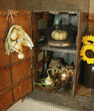 Chicken Crate Make ~ Do Buttery with Corn Husk Garland and Light