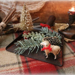 Childs Dustpan Putz Sheep Holiday Gathering