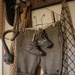 Old Winter Woolen Britches with Leather Baby Shoes Sweet