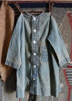 Early Homespun Blue Child's Dress