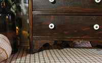 Antique Child's Dresser with Putz Sheep Sweet