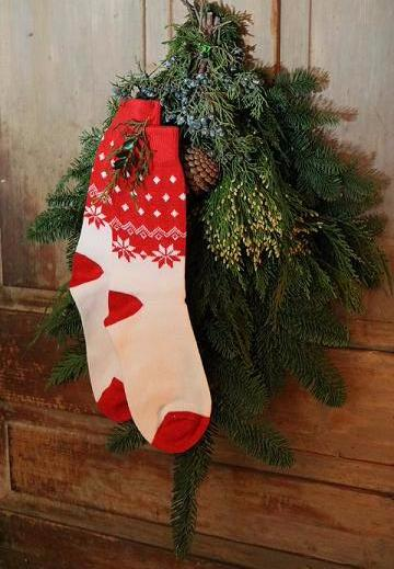 beautiful red and white christmas stockings