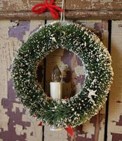 Christmas Wreath Vintage Style Lights Up Beautiful