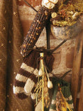 Antique Corn Dryer Primitive Gourds Autumn Mittens