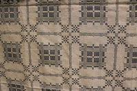 Cozy Reversible Coverlet Detailed Pattern Soft Mustard and Black