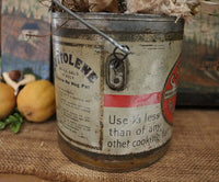 Advertising Tin Pail Cottolene Fairbank and Viscoloid Cow Gathering