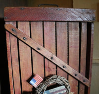 Antique Cranberry Sorter with Patriotic Flavor