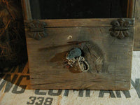 Antique Cricket Box Large Size Unique with Wee Mouse Awesome