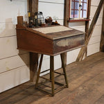 Paymasters Desk Mid-19th Century Original Red Paint
