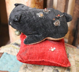 Dog Velvet Pin Cushion Old Neat
