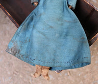 Norma Schneeman Doll Old Hooded Cradle Gathering Sweet